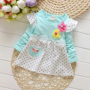 DIIMUU/Модная одежда для девочек весенние платья с длинными рукавами для девочек детское платье с милыми цветами, костюм для детей от 1 года до 3...