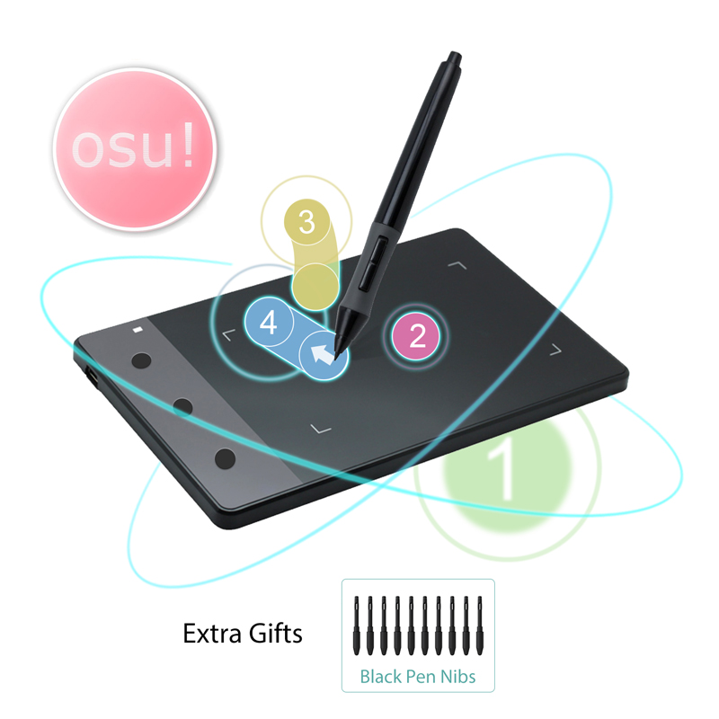 Huion H420 4 x 2.23 Inches Graphics Drawing Tablet Digital Pen Tablet 2048 Pen Sensitivity Signature Pad for OSU With Gifts