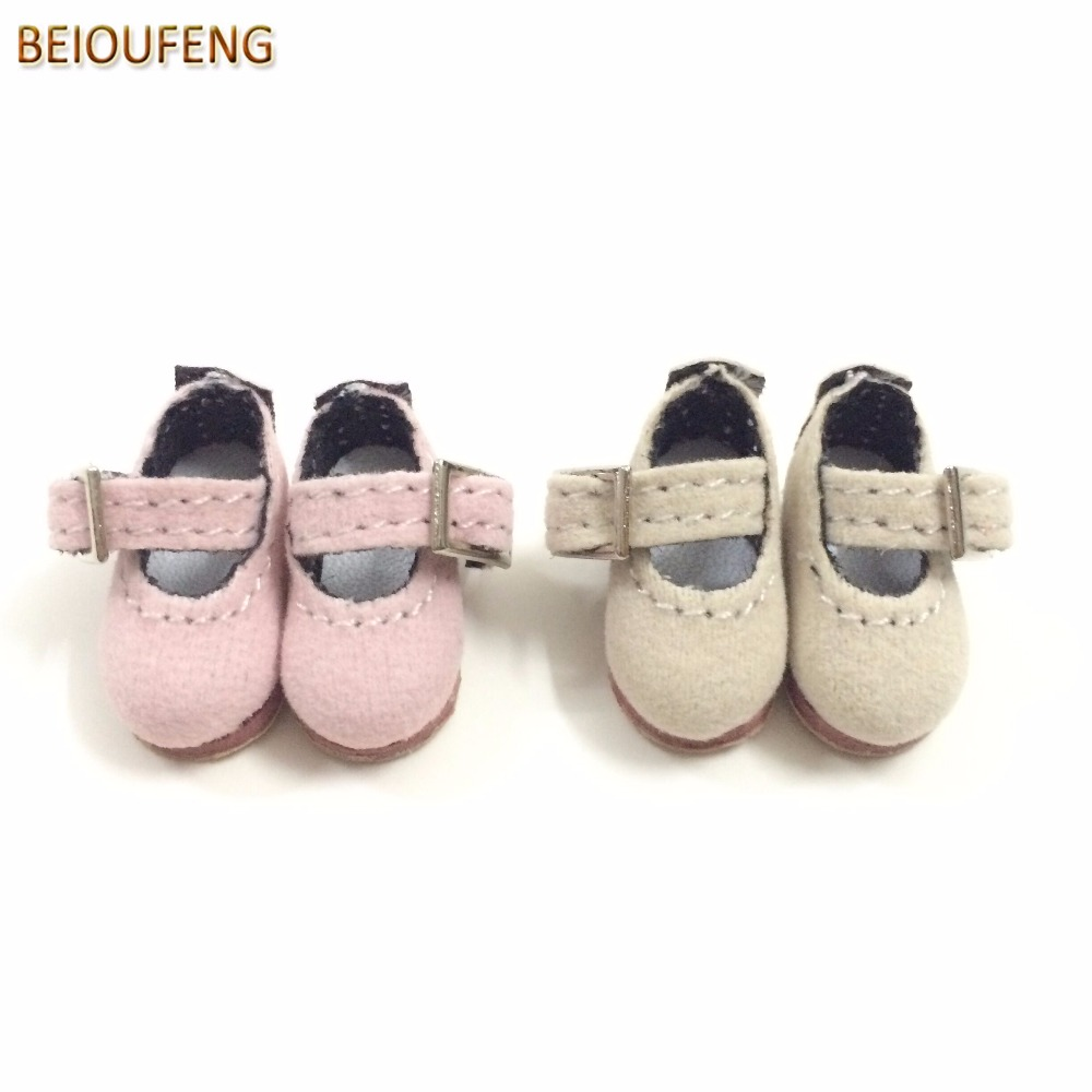 BEIOUFENG 1/8 BJD Doll Shoes for Blythe Doll Toys,Mini Toy Boots for Lati Pukifee Doll,BJD Footwear for Irrealdoll 2 Pair/Lot beioufeng 3 8cm fashion doll shoes for blythe doll toy mini gym shoes sneakers for dolls bjd doll footwear sports shoes 6 pair