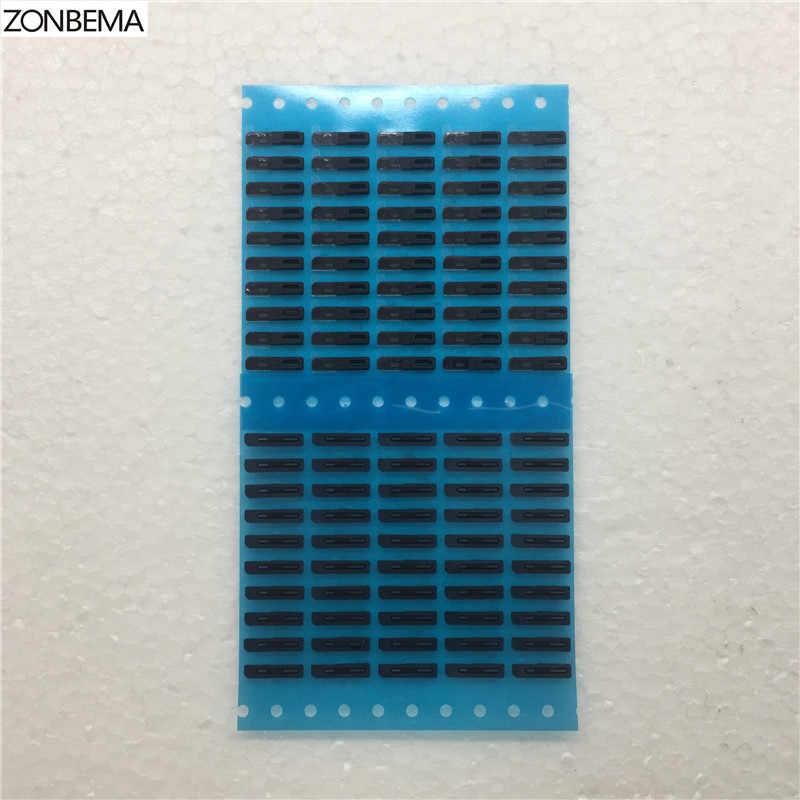ZONBEMA Yeni Kulak Kulaklık Hoparlör Anti Toz Geçirmez Izgara Örgü Net Kauçuk Conta Ile Yapıştırıcı Tutkal Için iPhone 5 5 S 5C SE 6 6 S Artı