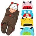 Новая мода Прекрасный мультфильм Baby Sleepsacks детские Спальные Мешки детские прием одеяла детские аксессуары B0043