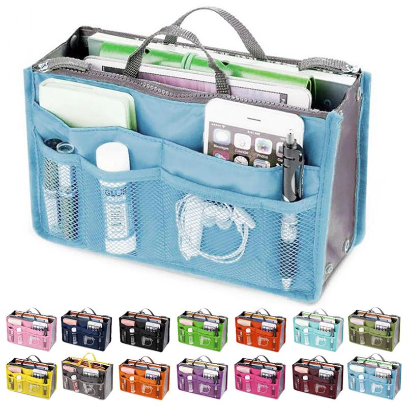 Fashion Makeup Bags Large Capacity Nylon Cosmetic Storage Bag Travel Insert Organizer Handbag Purse Makeup Bag For Women Female