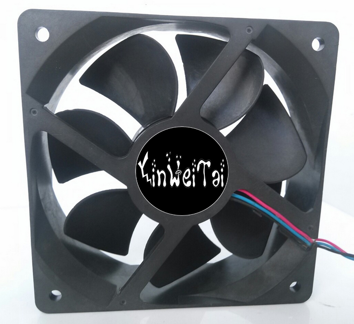 Cooling fan for Delta NFB10512HF -7F03 DC 12V 0.39A 3-wire 3-pin connector 70mm 105x105x32mm Server Square Cooling fan v 3 12