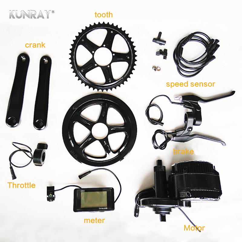 BAFANG BBS01B 36V 250W 350W Ebike Mid Drive Brushless Motor Kit Electric Bicycle Conversion Kit C961 Display With Brake Sensor free shipping bafang 8fun genuine ebike 36v 500w bbs02 mid drive motor conversion kit built in controller lcd 850c c965