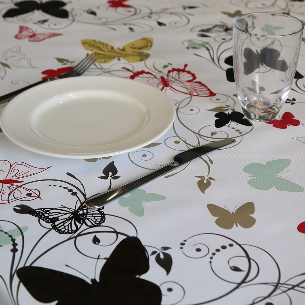 Pastoral Style PVC Table Cloth Waterproof Oil Proof Floral Table Cover for Wedding Party Restaurant Banquet Decorations