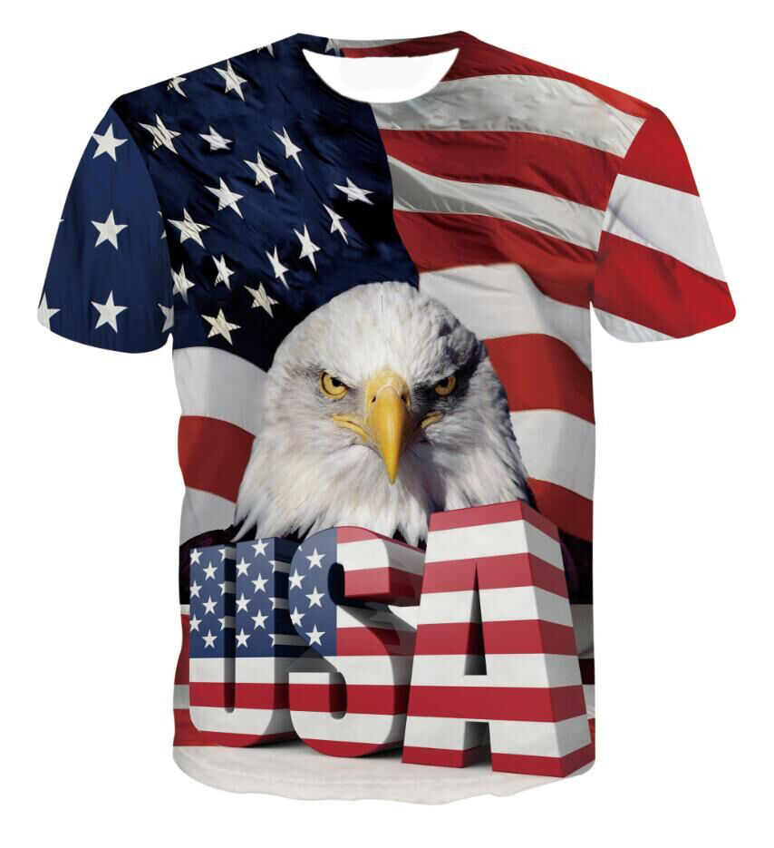 Black flag t shirt europe - Men Women Fashion 3d T Shirt Harajuku Tee Shirts Cool Usa Eagle Prints Tshirts Male Female
