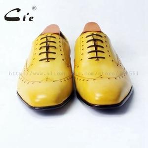 Image 3 - Cie vierkante teen laceup gemengde kleuren oxfords brilliant geel pure echt leer mannen casual schoen ademend handmadeOX311