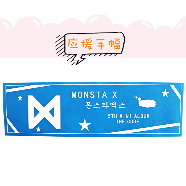 US $1 5 |[MYKPOP]MONSTA X Concert Airport Supporting Banner K POP BTS V  Banner SA18071111-in Action & Toy Figures from Toys & Hobbies on