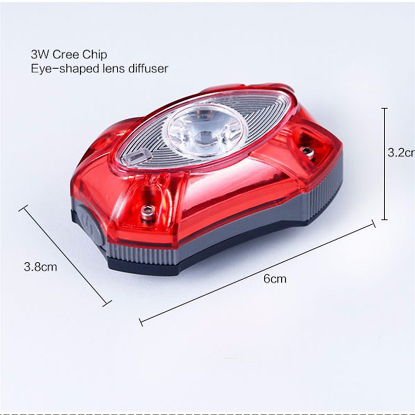 Water-Proof Bike light Taillight Safety USB Rechargeable Bicycle Light Tail Warning LED Cycling Bicycle Light #2A26