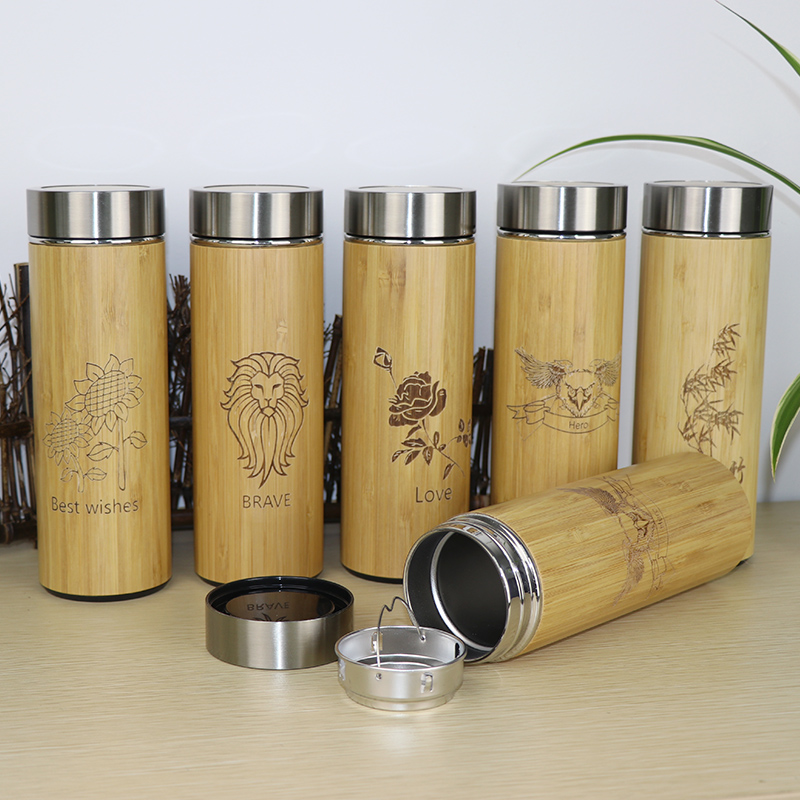 Bamboo travel Thermos Cup 5