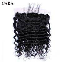 Pre Plucked Silk Base Lace Frontal Closure Loose Wave 13x4 Three Part Brazilian Virgin Hair Bleached Knots With Baby Hair CARA