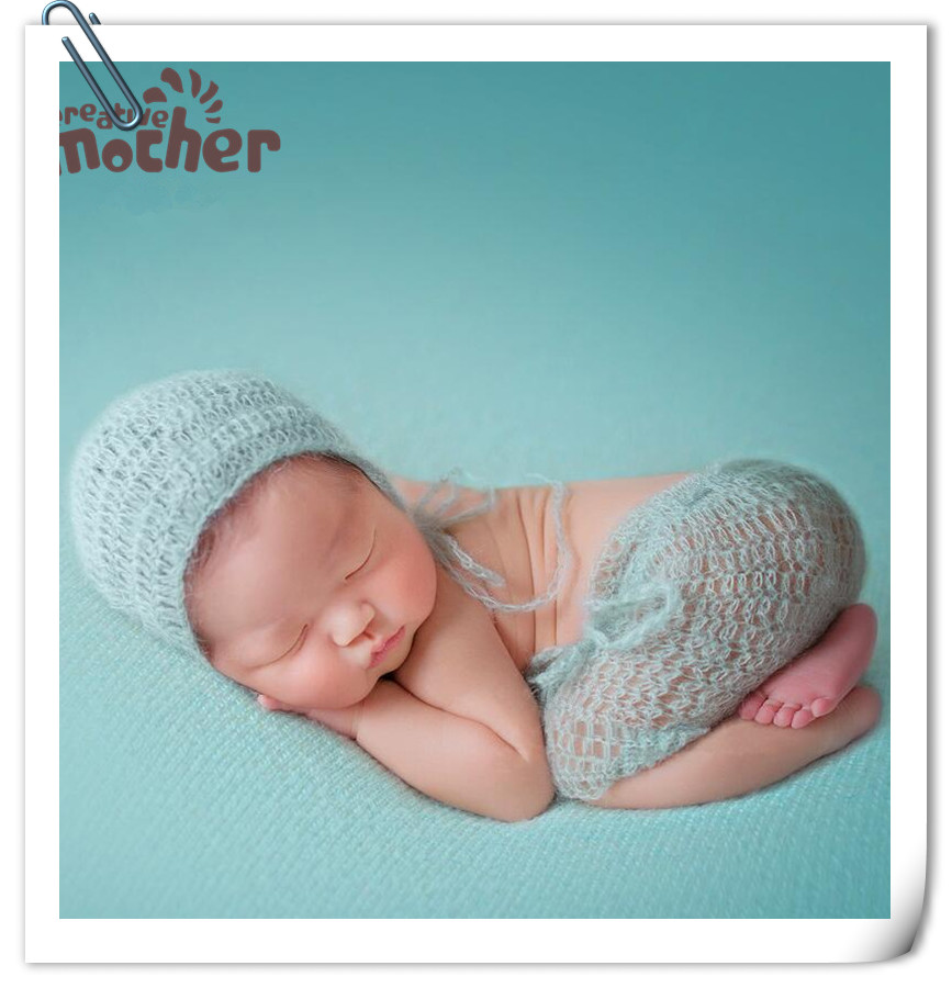 Newborn Photography Clothing Baby Photo Prop Manual Wool Knitting Weave Mohair Clothes & Hats Set Newborn Photo Accessories so cute luxury newborn mohair romper newborn overalls newborn photo prop