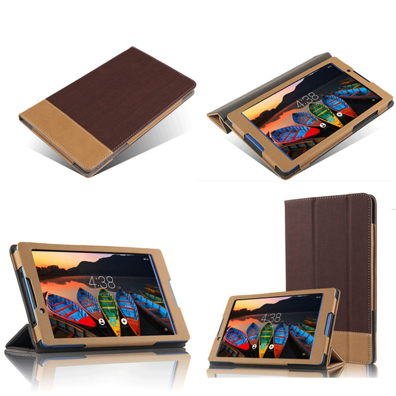 SD Flip PU leather protective Book skin Spell color Case With Magnet stand Luxury cover For Lenovo tab 3 8.0 TB3-850F Tb3-850M