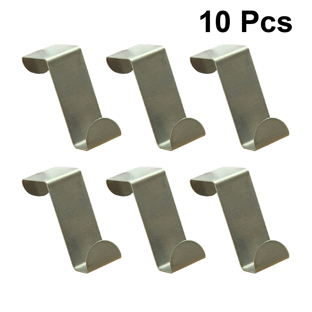10pcs Stainless Steel Coat Hooks Multi function Door Back Style Hooks for Family Door Entrance(China)