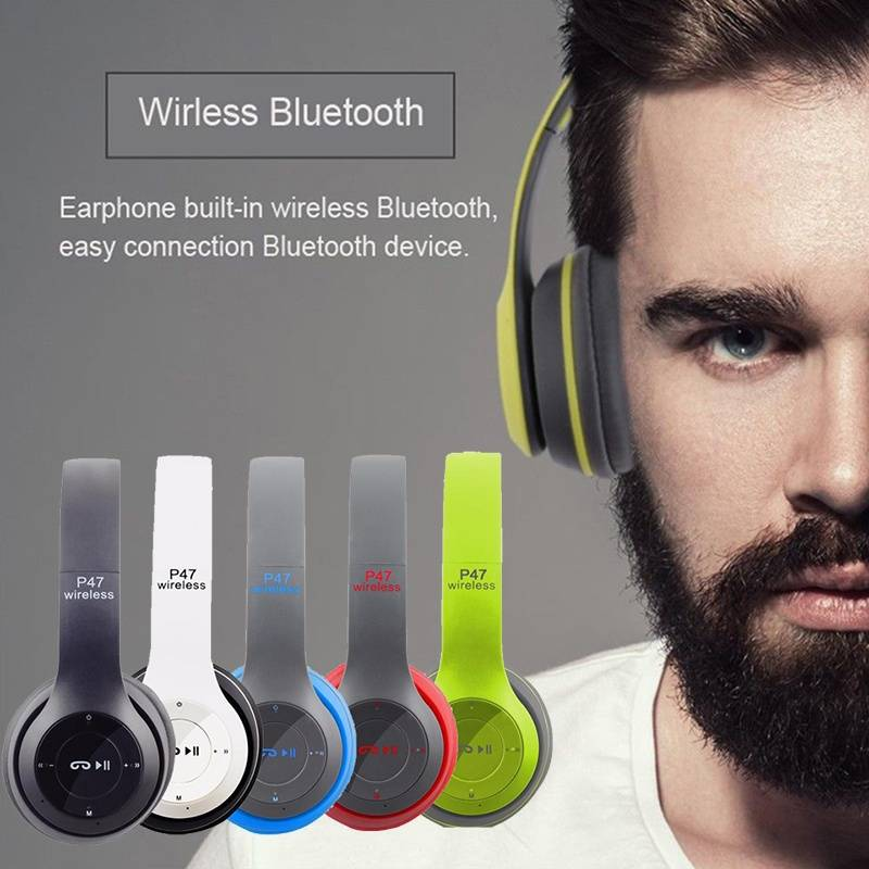 Itek Headband Foldable Wireless Stereo Bluetooth Headphones Headset Noise Cancelling Volume Control Earphones for iPhone Android bluetooth wireless headset noise canceling wireless headphones with 400mah power bank box for iphone 8 android bluetooth headset