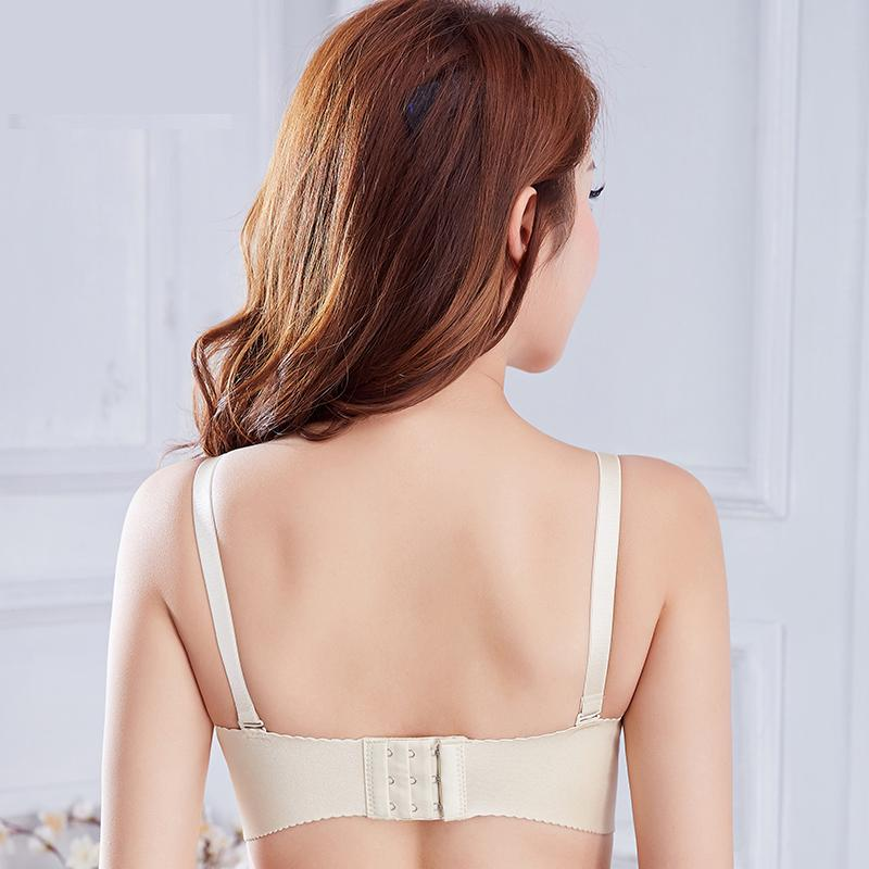 Large Cup lady bra seamless big Size T Shirt Bra fashion soutien gorge No Rims Super Push Up Bra Wireless Solid 3 4 Cup Sexy Bra in Bras from Underwear Sleepwears