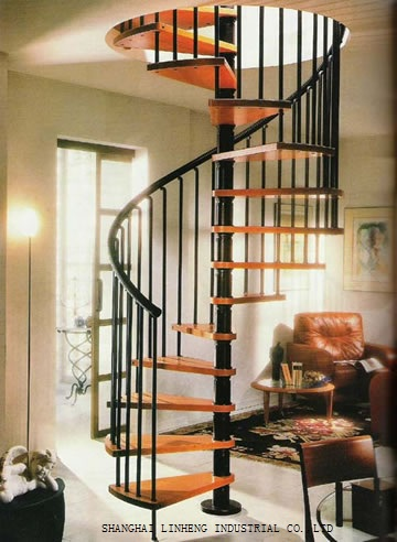 ... Buy Spiral Staircase : Aliexpress Buy Wood Steel Spiral Stair Lh Sc ...