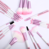 24 Pcs Leopard Cosmetic Makeup Brushes Set Blusher Eye Shadow Brow Lip Powder Foundation Make Up Brush Kit Beauty Essentials