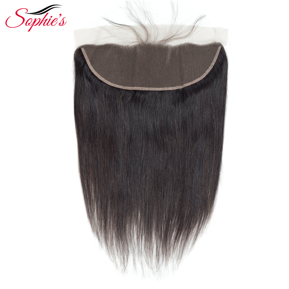 Sophie's Lace Closure Brazilian Hair 13 * 4 Lace Frontal Straight - Skønhed forsyning - Foto 3