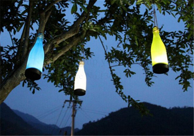 Waterproof Solar Lamp Led Hanging Bottle Lights Garden Outdoor Path