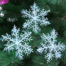 30/60pcs Christmas Snowflake Ornaments Xmas Tree for Home Decoration
