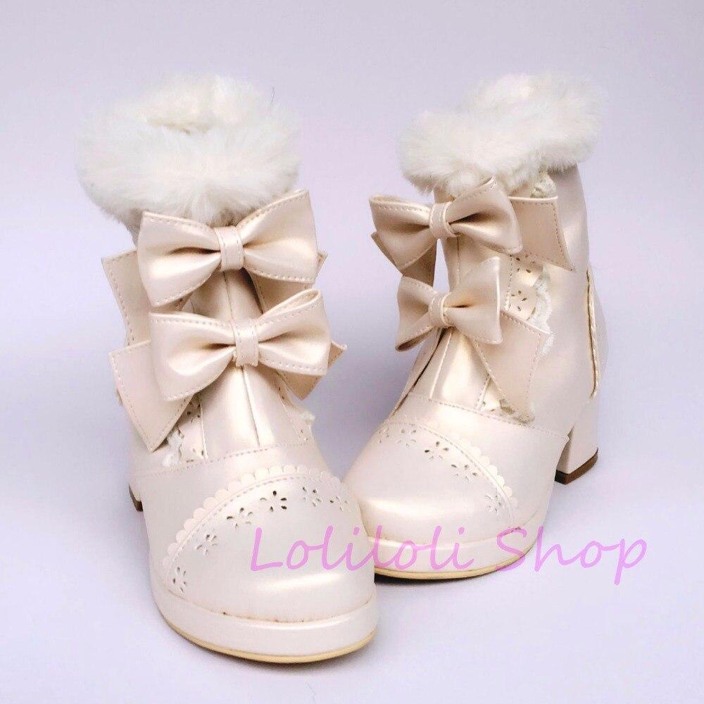 An6666 Multi Perle Blanc Un Lumineuse Design Taille Princesse Court Arc Douce Japonais Chaussures Peau Loliloli Avec Yoyo Grande Lolita Bottes Custom vvRwgpqHP