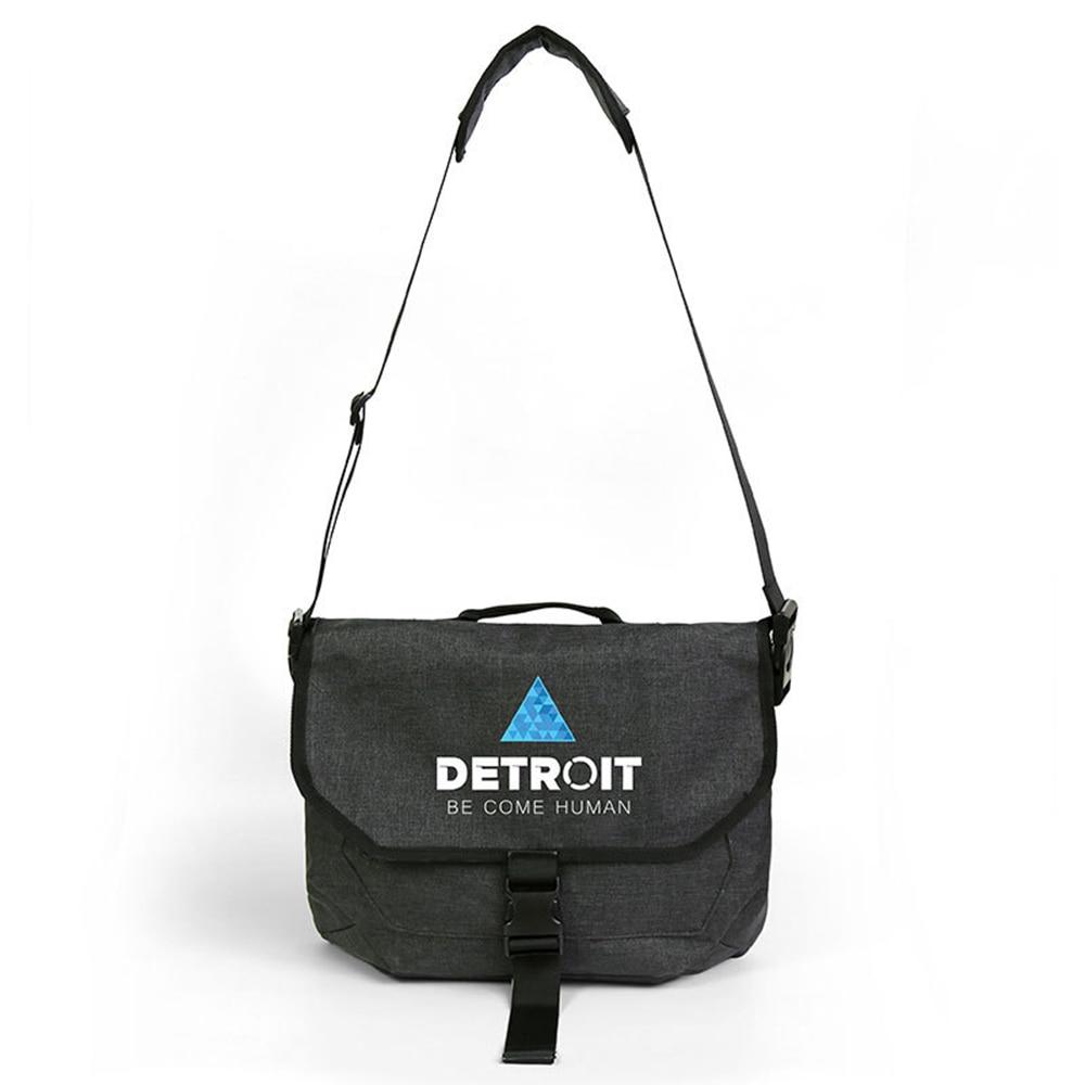 Detroit:Become Human Single Shoulder Backpack Cosplay Conner RK800 Kara Custume Vintage Harajuku Crossbody Messenger Student Bag