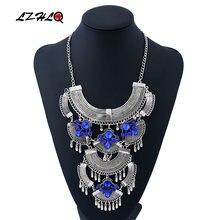 Lzhlq винтажное ожерелье Макси Стразы модное женское многослойное