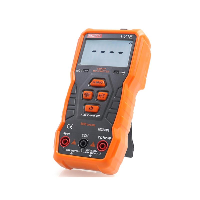 TY T21A/D/E NCV Digital Multimeter 6000 Counts Auto Ranging AC/DC Voltage Meter Flash Light Back Light Large Screen Like RM113D