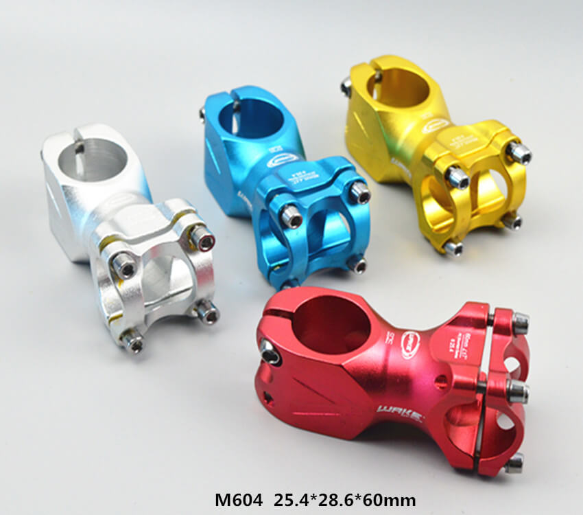 wake Fixed Gear Bike Stem 25.4mm 60mm 7 degree MTB BMX Bicycle CNC T6 6061 Al Alloy Handlebar Stems fit 28.6mm Fork Cycling M604