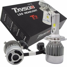2xH4 110W Super Bright COB Hi/Lo LED Car Headlight COB Chip Double Beam Head Lamp Bulb Kit 360Degree 6500k 9200LM Auto Headlamp 110w set 9200lm car led headlight truck head lamp conversion kit 9005 hb3 6000k white bulbs single beam replace halogen hid kit