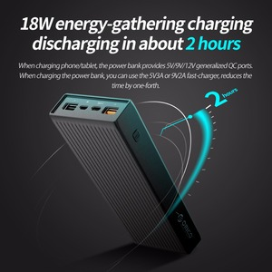 Image 5 - ORICO QC3.0 Power Bank 10000mAh BC1.2 Type C Two way Quick Charger 18W Max Output External Battery for Samsung Xiaomi