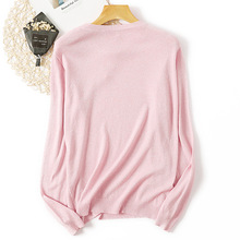 Casual Sweaters Women 2019 Female Pullovers O-neck Long Sleeve Basic Knitting Shirts Knit Tees White Pink Khaki Sweater Mujer