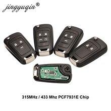 Jingyuqin voiture télécommande alarme clé pour Chevrolet Cruze Epica Lova Camaro Impala 2/3/4 bouton 315Mhz/433Mhz ID46 PCF7931E puce clé