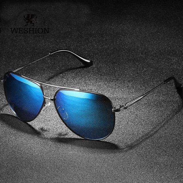 36d5f20a1aa WESHION Retro Sunglasses Men Women Polarized Brand Designer Pilot Shades  Classic Driving Sun Glasses 2018 UV400 Zonnebril Mannen