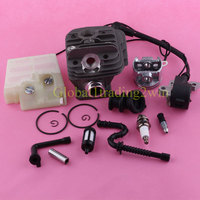 44mm Cylinder Piston Ignition Coil Air Oil Fuel Filter Kit For STIHL 026 MS260
