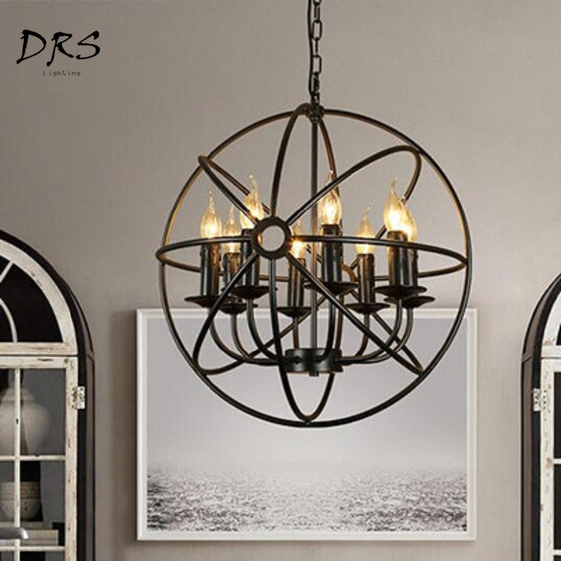 Nordic Globe Chandelier Personality Dining Room Hanging Lamp Creative Garden Bedroom Bar LED Luminaire Industriel LightingNordic Globe Chandelier Personality Dining Room Hanging Lamp Creative Garden Bedroom Bar LED Luminaire Industriel Lighting