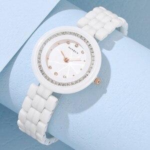 Модные женские керамические часы Лидирующий бренд роскошные женские часы элегантное платье кварцевые часы женские Montre Femme дропшиппинг час...