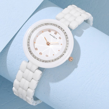 Fashion Ladies Ceramic Watch Top Brand Luxury Women Watches Elegance Dress Quartz Clock Female Montre Femme Dropshipping Watch