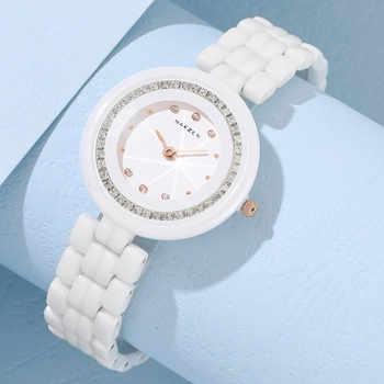 Mode dames en céramique Montre haut marque de luxe femmes montres élégance robe Quartz horloge Femme Montre Femme livraison directe Montre