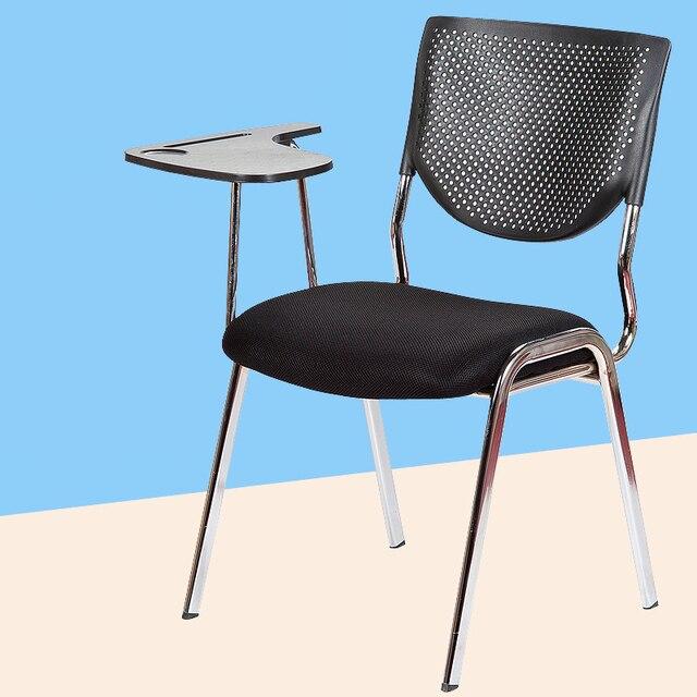 2 Pcs Lot Simple Chaise De Bureau Moderne Avec Tableau Decriture Conference Reunion