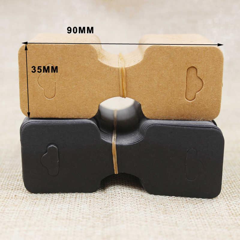 200 шт. белый/kraft/черный ювелирные колье ручной работы экрана карты картонные украшения для волос сложенный дисплей пакет карт