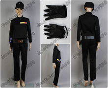 Star Wars Imperial Officer Uniform Black Jacket Pant Hat Cap For Men Halloween Cosplay Costume Version