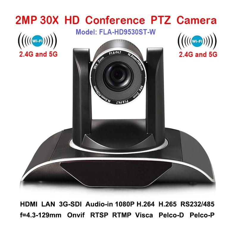 2MP 30 3xoptical Zoom IP PTZ Conférence caméra Wifi Sans Fil avec DVI 3G-SDI Sorties