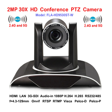 2MP 30xOptical Zoom IP PTZ Conference camera Wifi Wireless with DVI 3G-SDI Outputs