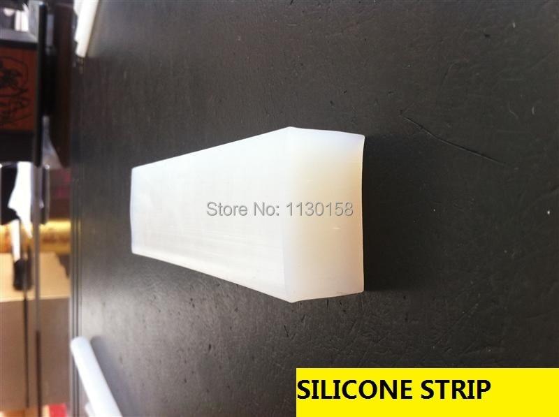 10X15mmX10meters Square Silicone Strip Silica Rod Silicon Cord Silicone Bar, Milky White Color