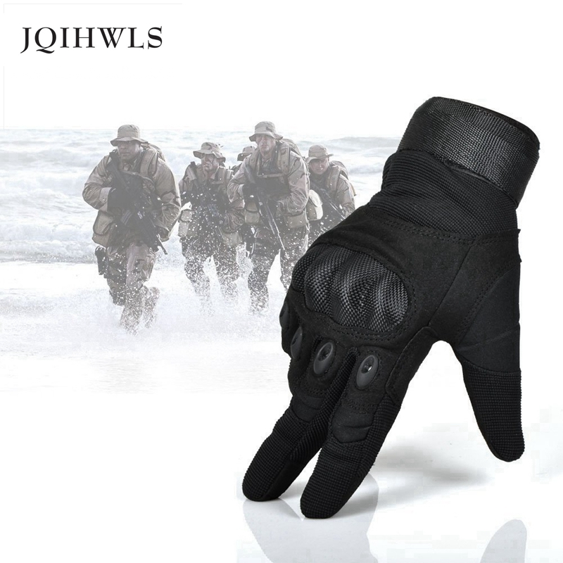 New Army Gear Tactical Gloves Men Full Finger Combat Military Gloves Militar Carbon Shell Anti-skid Airsoft Paintball Gloves