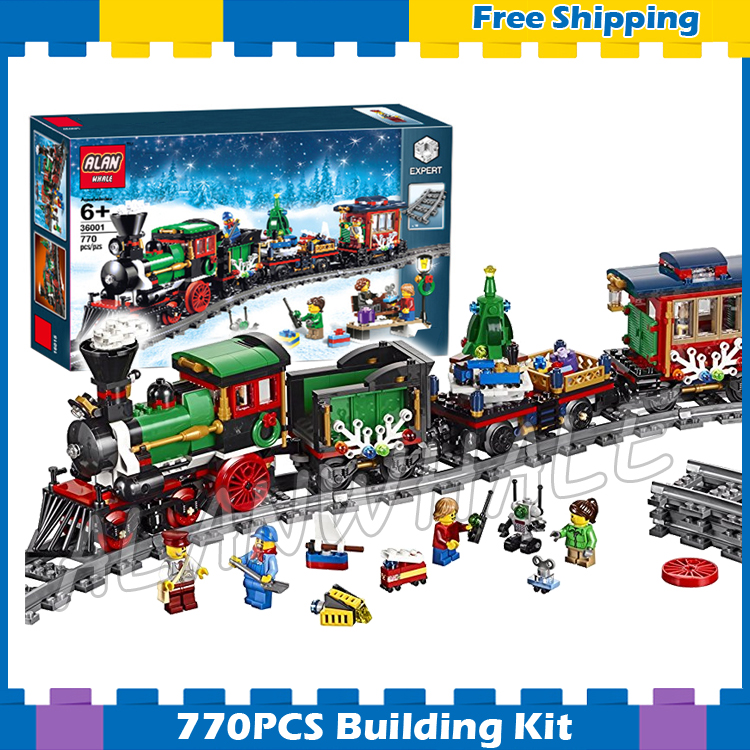 770pcs Creator Expert Winter Holiday Trains Classical 3D Model Building Blocks Assemble Gifts Sets Children Compatible With Lego
