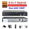 Security 5 In 1 FULL 16CH Hybrid AHD 1080P DVR TVI CVI Analog IP Camera ONVIF