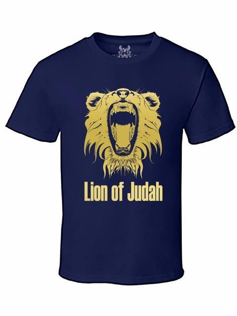 5ab05b77783 Men s Gold Foil Printed Lion of Judah Christian Jesus God Bible Cotton T- Shirt Free shipping Tops t-shirt